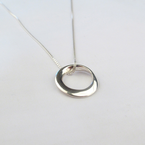 Mobius circle pendant necklace share mozeypictures Image collections