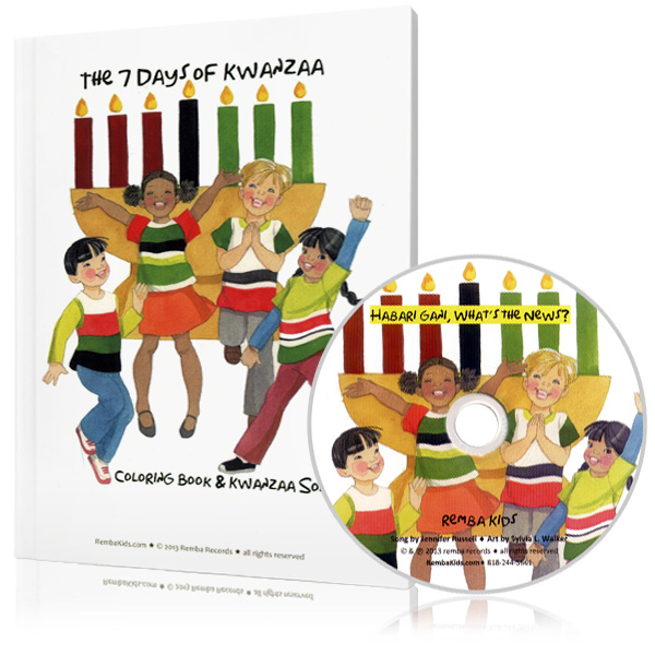 The 7 Days of Kwanzaa-Coloring Book & Song