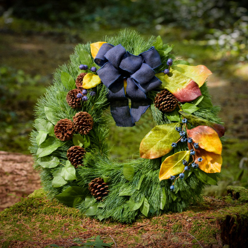 Blueberry Burlap Wreath