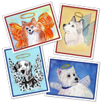 Heavenly Dogs - Greeting Card Set