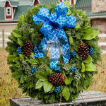 Blue Deluxe Wreath