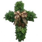 Christmas Cross Specialty Wreath