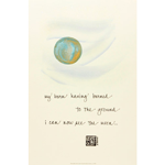 J Stone Handpainted Poster - I Can Now See the Moon