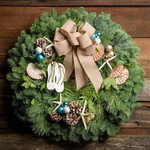 Sandals and Seashells Wreath