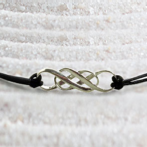 Mobius Double Infinity Cord Necklace