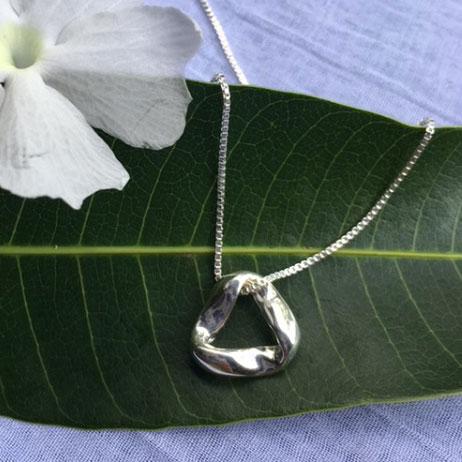 Mobius Small Pendant Necklace
