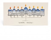J Stone Handpainted Hanukkah Card - Celebrate Miracles (Box of 10)