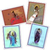 Ethnic Angels Greeting Card Set