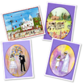 First Communion Greeting Card Set