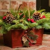 Holly Hill Basket Centerpiece