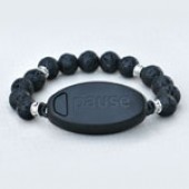 Meaning to Pause Vibration Bracelets - Ma-halo Pause - Lava Rock with Spacers