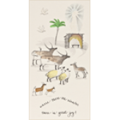 J Stone Handpainted Christmas Card - Where There Are Miracles (Box of 10)