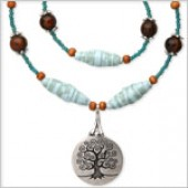 Recycled Paper Tree of Life Necklace