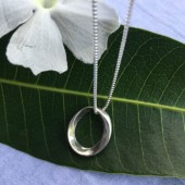 Mobius Small Oval Pendant Necklace
